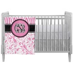 Zebra & Floral Crib Comforter / Quilt (Personalized)