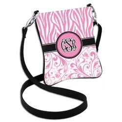 Zebra & Floral Cross Body Bag - 2 Sizes (Personalized)