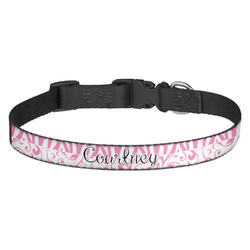 Zebra & Floral Dog Collar (Personalized)
