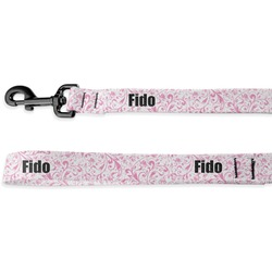 Zebra & Floral Deluxe Dog Leash (Personalized)