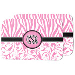 Zebra & Floral Dish Drying Mat (Personalized)