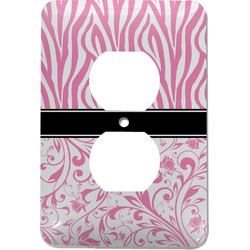 Zebra & Floral Electric Outlet Plate (Personalized)