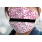 Zebra & Floral Face Mask Cover (Personalized)