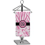 Zebra & Floral Finger Tip Towel - Full Print (Personalized)