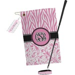 Zebra & Floral Golf Towel Gift Set (Personalized)