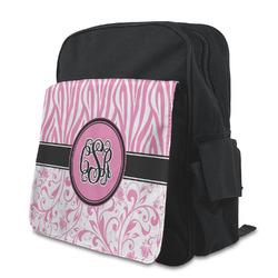 Zebra & Floral Preschool Backpack (Personalized)