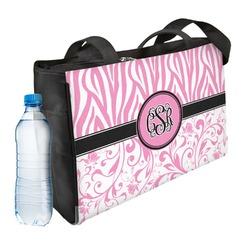 Zebra & Floral Ladies Workout Bag (Personalized)