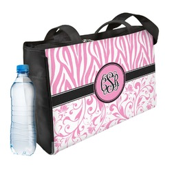 Zebra & Floral Ladies Workout Bag (Personalized)