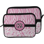 Zebra & Floral Laptop Sleeve / Case (Personalized)