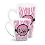 Zebra & Floral Latte Mug (Personalized)