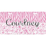 Zebra & Floral Front License Plate (Personalized)