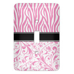 Zebra & Floral Light Switch Covers (Personalized)