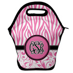 Zebra & Floral Lunch Bag w/ Monogram