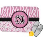 Zebra & Floral Memory Foam Bath Mat (Personalized)