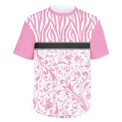 Zebra & Floral Men's Crew T-Shirt (Personalized)