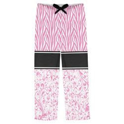 Zebra & Floral Mens Pajama Pants (Personalized)