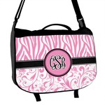 Zebra & Floral Messenger Bag (Personalized)