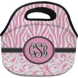 Zebra & Floral Lunch Bag (Personalized)