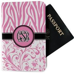 Zebra & Floral Passport Holder - Fabric (Personalized)