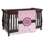 Zebra & Floral Baby Blanket (Personalized)