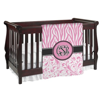 Zebra & Floral Baby Blanket (Personalized)