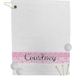 Zebra & Floral Golf Towel (Personalized)