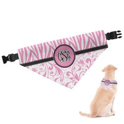 Zebra & Floral Dog Bandana (Personalized)