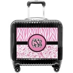 Zebra & Floral Pilot / Flight Suitcase (Personalized)