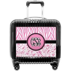 Zebra & Floral Pilot / Flight Suitcase (Personalized)