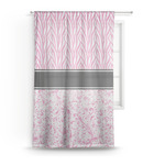 Zebra & Floral Sheer Curtains (Personalized)