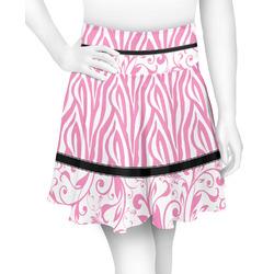 Zebra & Floral Skater Skirt (Personalized)