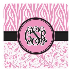 Zebra & Floral Square Decal - Custom Size (Personalized)