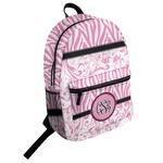 Zebra & Floral Student Backpack (Personalized)