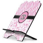 Zebra & Floral Stylized Tablet Stand (Personalized)