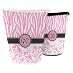 Zebra & Floral Waste Basket (Personalized)
