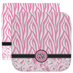 Zebra & Floral Facecloth / Wash Cloth (Personalized)