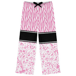 Zebra & Floral Womens Pajama Pants (Personalized)