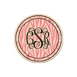Zebra & Floral Genuine Wood Sticker (Personalized)