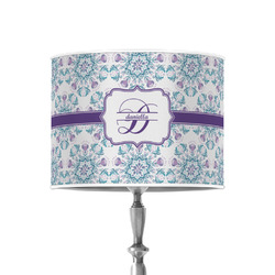 "Mandala Floral 8"" Drum Lamp Shade - Poly-film (Personalized)"