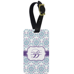Mandala Floral Aluminum Luggage Tag (Personalized)