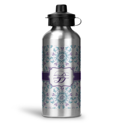 Mandala Floral Water Bottle - Aluminum - 20 oz (Personalized)