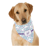 Mandala Floral Dog Bandana Scarf w/ Name and Initial