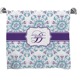 Mandala Floral Full Print Bath Towel (Personalized)