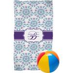 Mandala Floral Beach Towel (Personalized)