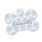 Mandala Floral Bone Shaped Dog ID Tag (Personalized)