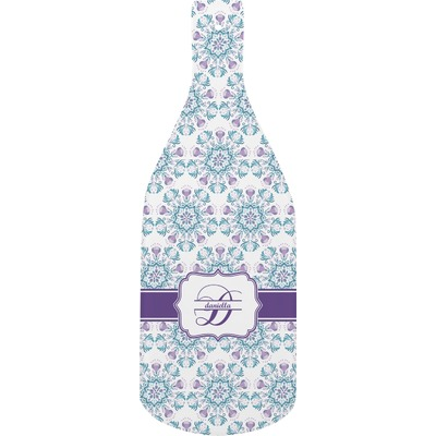 Mandala Floral Bottle Shaped Cutting Board (Personalized)