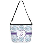 Mandala Floral Bucket Bag w/ Genuine Leather Trim (Personalized)