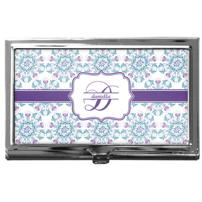 Mandala Floral Business Card Case
