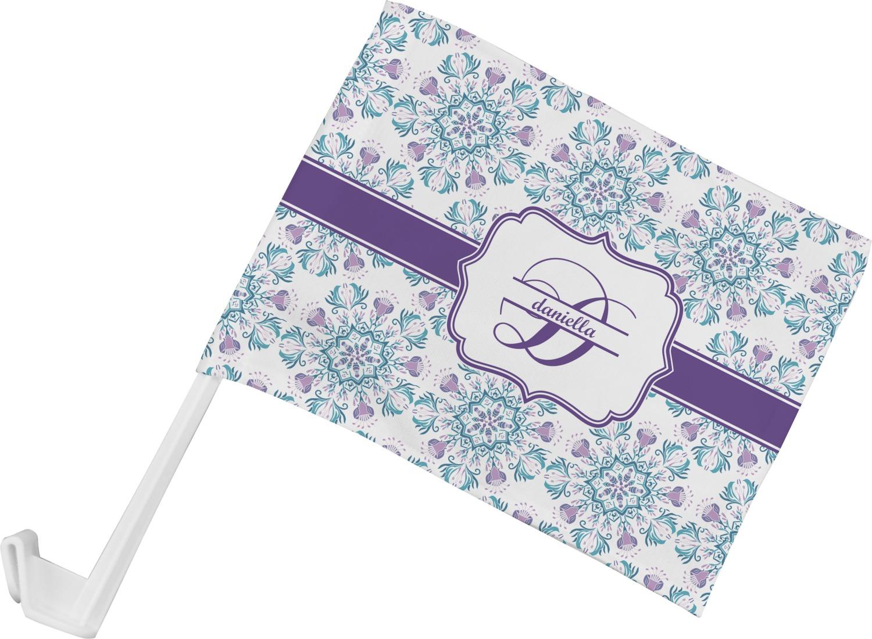 Design car flags - Mandala Floral Car Flag Personalized