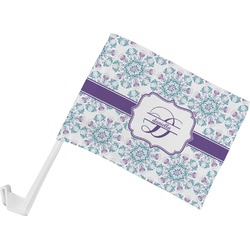 Mandala Floral Car Flag (Personalized)